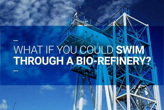 What if you could swim through a bio-refinery?