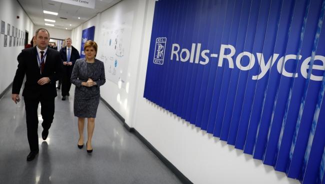 Nicola Sturgeon at National Manufacturing Institute for Scotland