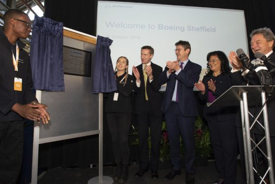 A red letter day: Boeing Sheffield officially opens