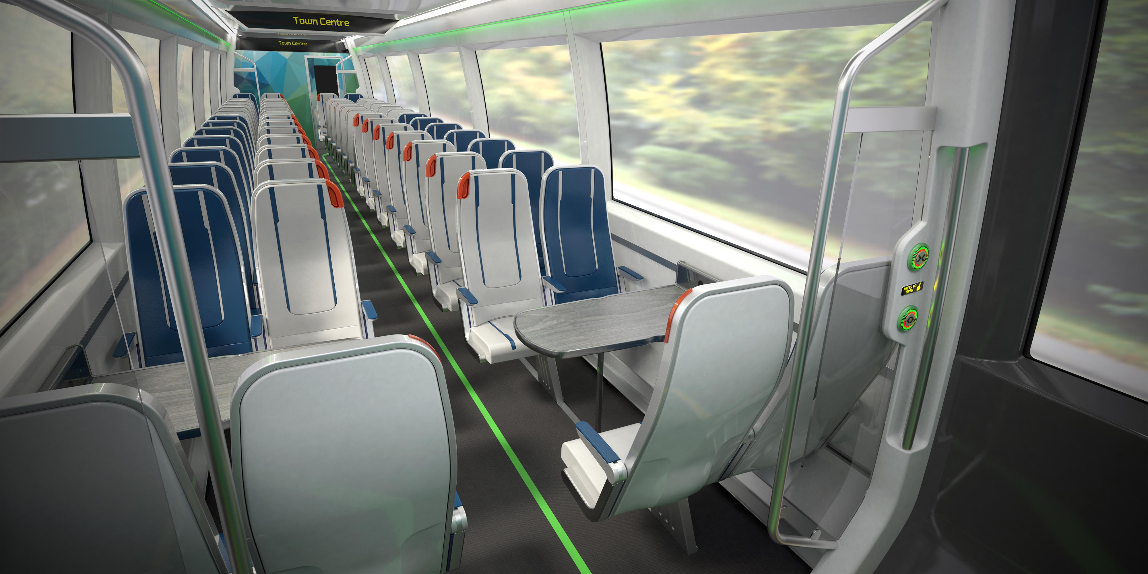 Revolution Very Light Rail interior