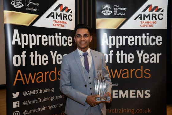 Shivan shines bright to win AMRC Training Centre 'Apprentice of the Year' title