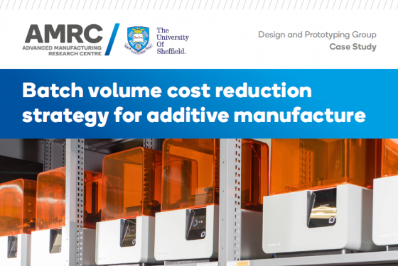 Batch volume cost reduction strategy for additive manufacture