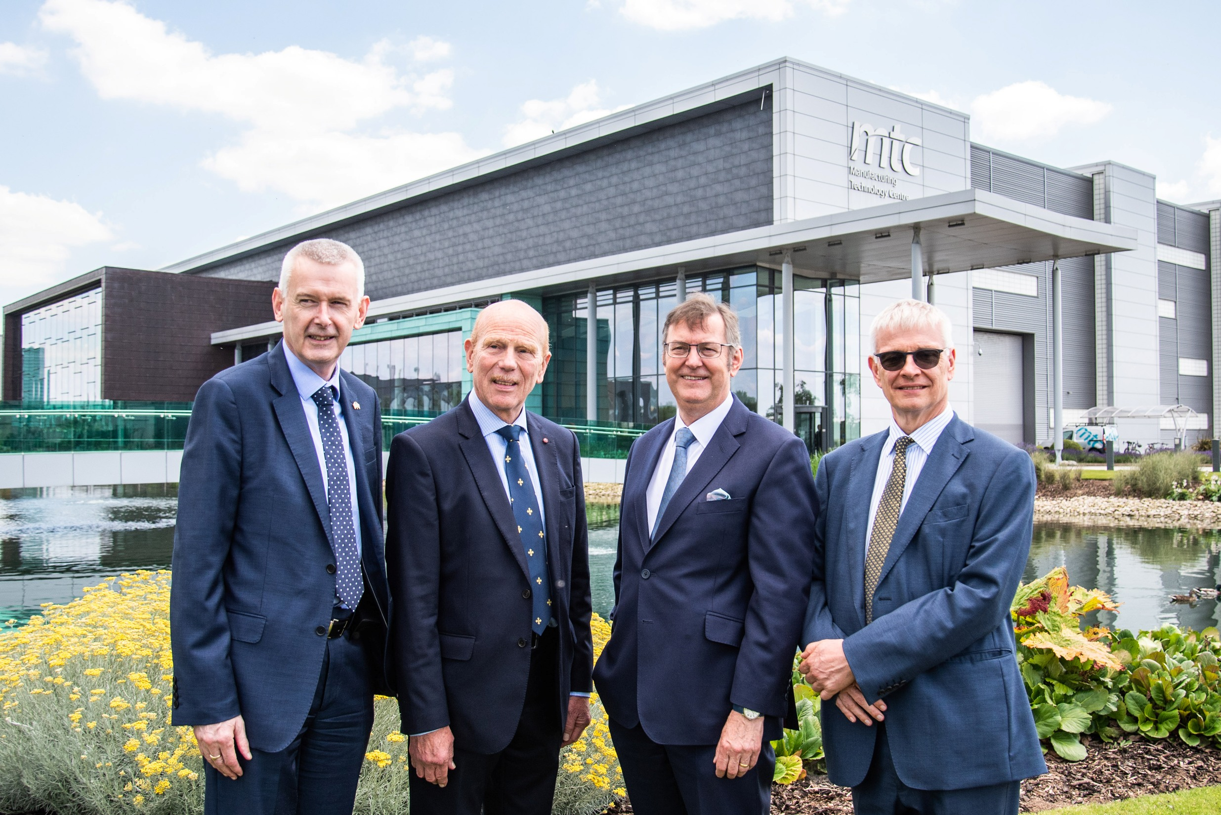 Pictured: Ambassador Adrian O'Neill, Ambassador of Ireland to the United Kingdom, IMR chairman Dr Will Barton OBE, Dr Clive Hickman, chief executive of the MTC and the British Ambassador to Ireland, Robin Barnett CMG