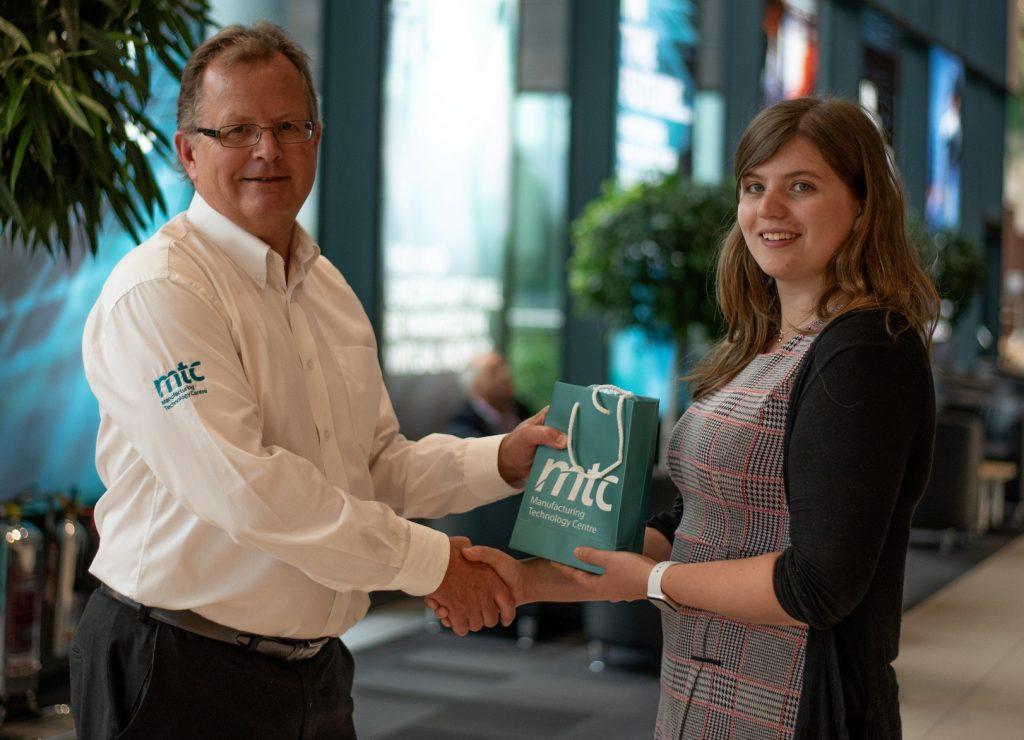 The MTC's senior business development manager Nigel Knapp with PhD student Laurissa Havins.