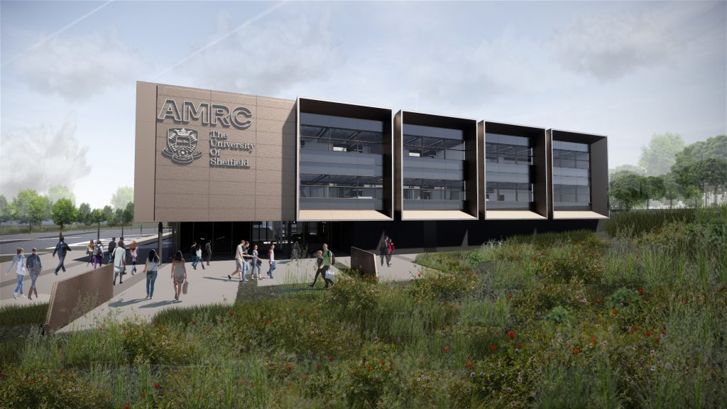 An artist impression showing the new AMRC North West facility