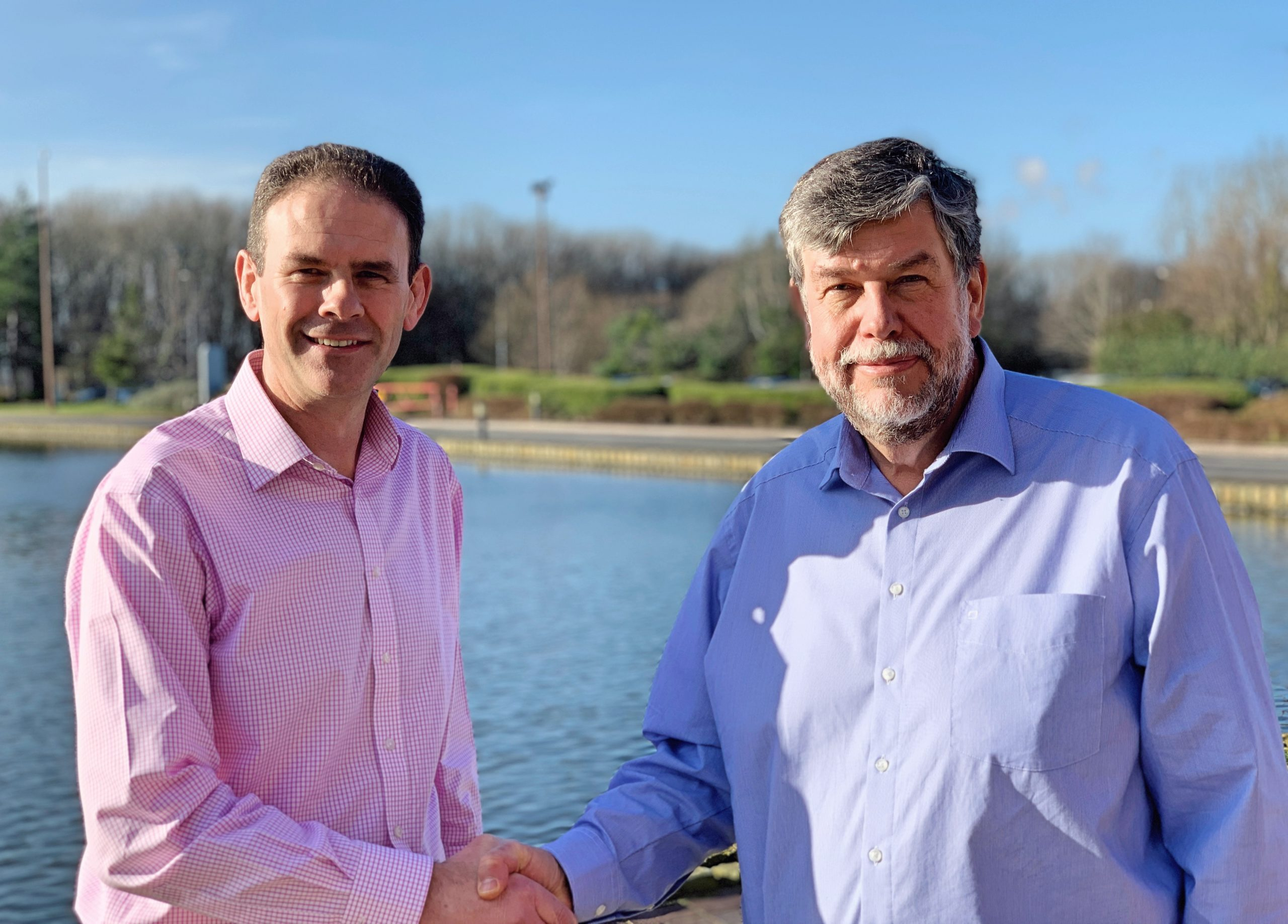 Pictured: Frank Millar (left) to become the new CEO of CPI, succeeding Nigel Perry (right), the current CEO