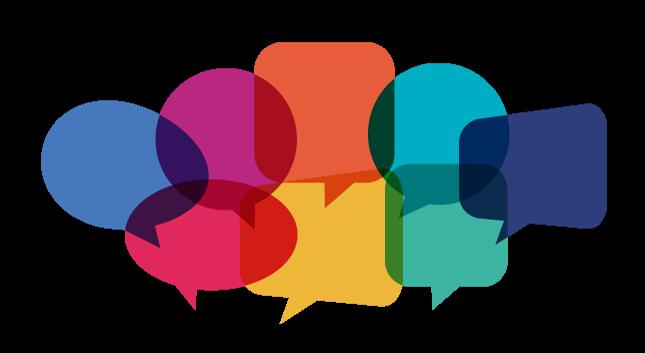 Communication speech bubbles